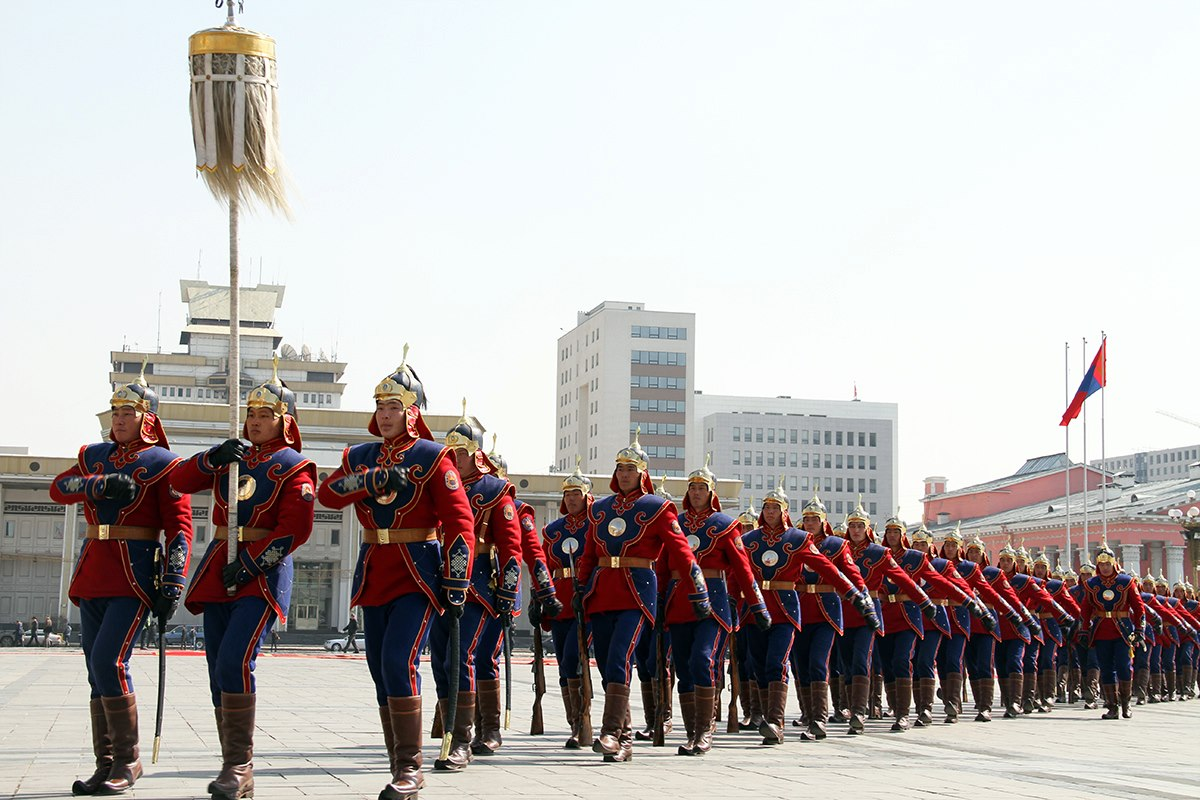 Mongolian Army Parade Mongolian Army to Marc...